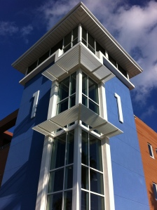Main stair tower exterior view